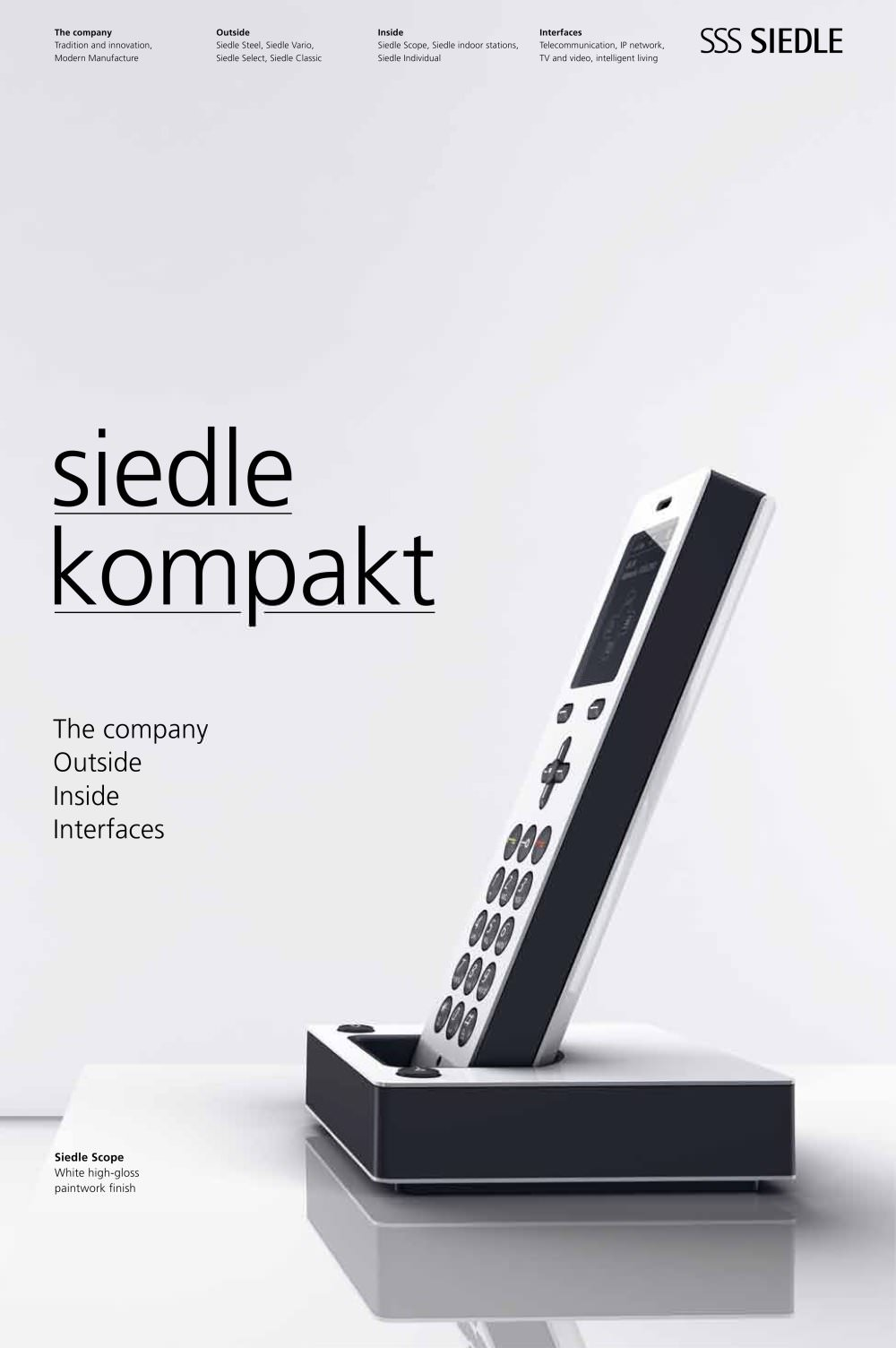 siedle kompakt - sss siedle - pdf catalogues | documentation | brochures