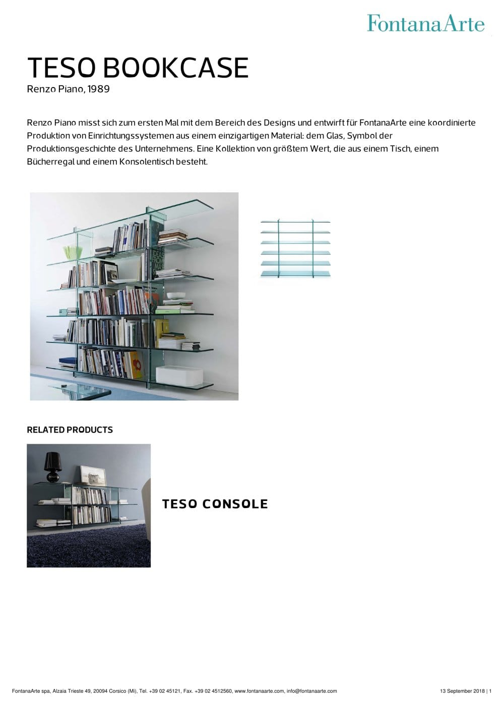 TESO BOOKCASE - FontanaArte - PDF Catalogues | Documentation | Brochures
