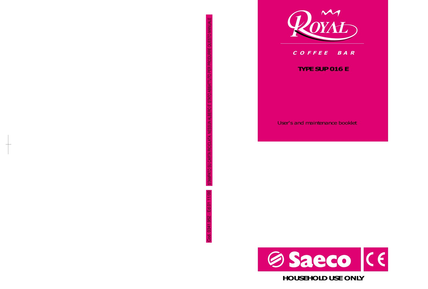 Saeco 8p Service Manual Ebook Block Diagram Okifax50505300 Talea Giro Plus Home Appliance Coffee Array Royal Bar Pdf Catalogues Documentation Brochures Rh Archiexpo Com