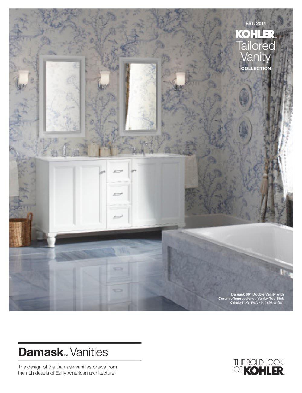 tailored vanity damask 1 4 pages - Kohler Vanity