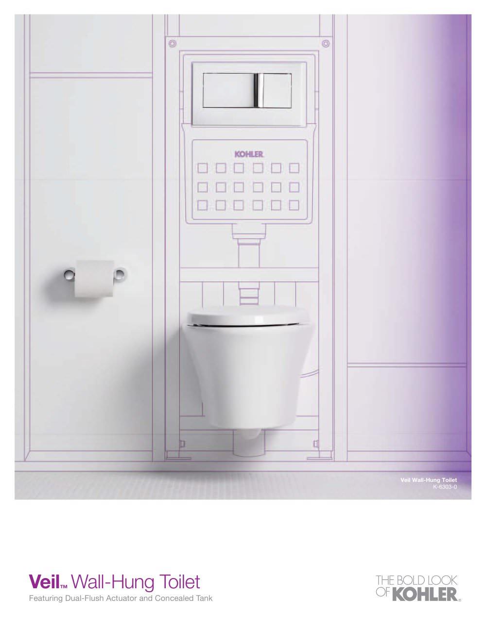 veil wall hung toilet sell sheet kohler pdf catalogues - Wall Hung Toilet