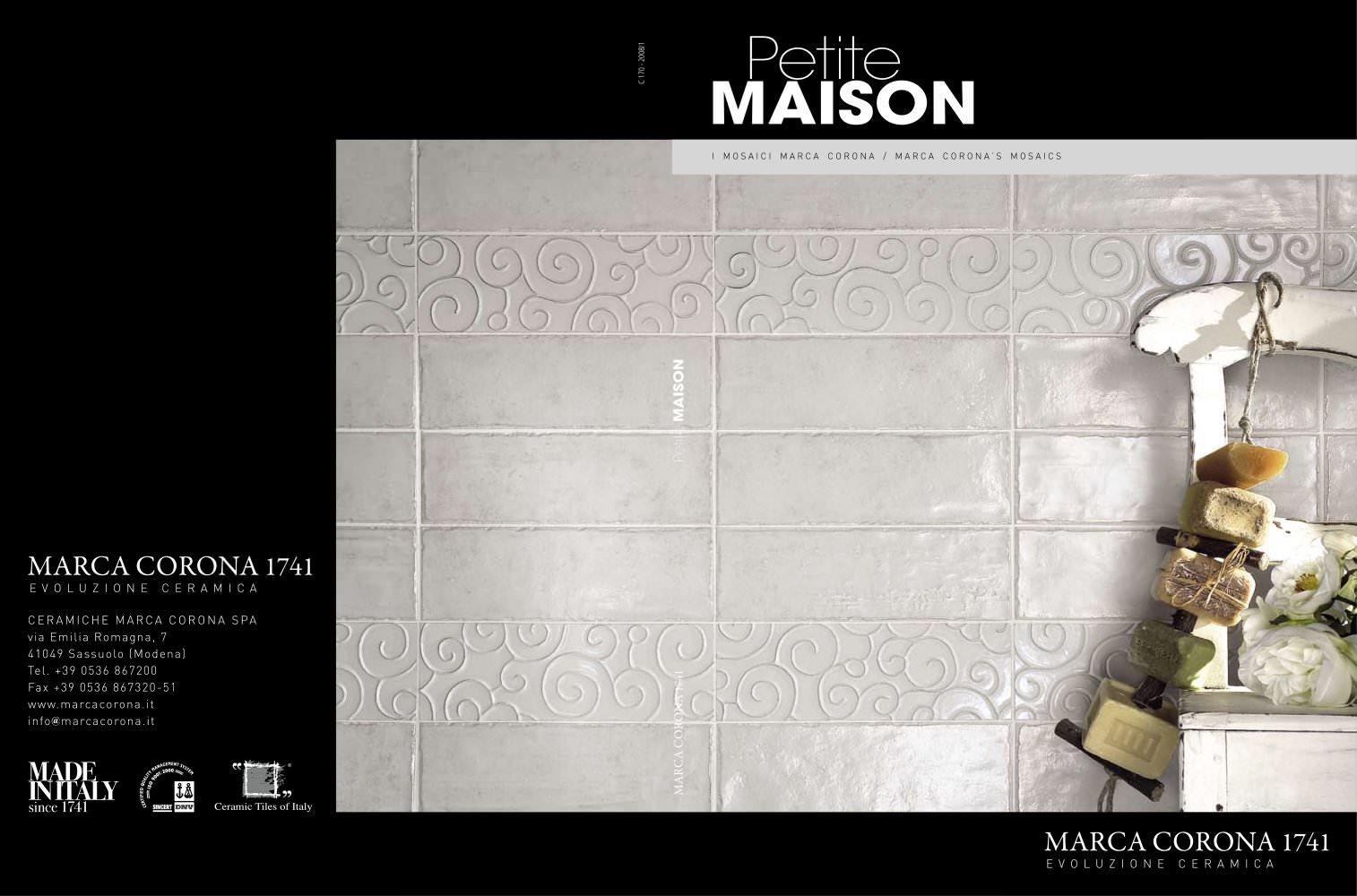 PETITE MAISON - CERAMICHE MARCA CORONA - PDF Catalogues ...