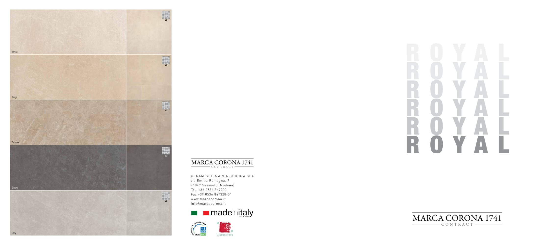 ROYAL - CERAMICHE MARCA CORONA - PDF Catalogues | Documentation ...