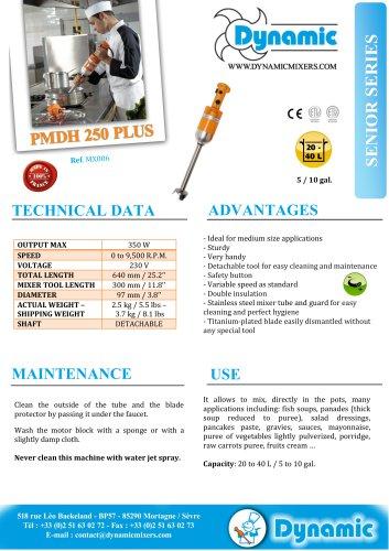 PMDH 250 - Dynamic - PDF Catalogs | Documentation | Brochures