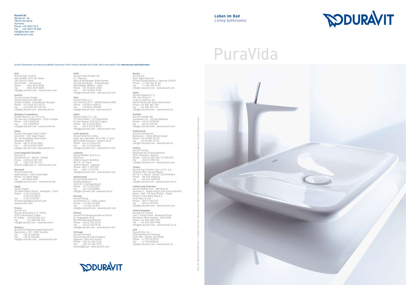 PURAVIDA - DURAVIT - PDF Catalogues | Documentation | Brochures