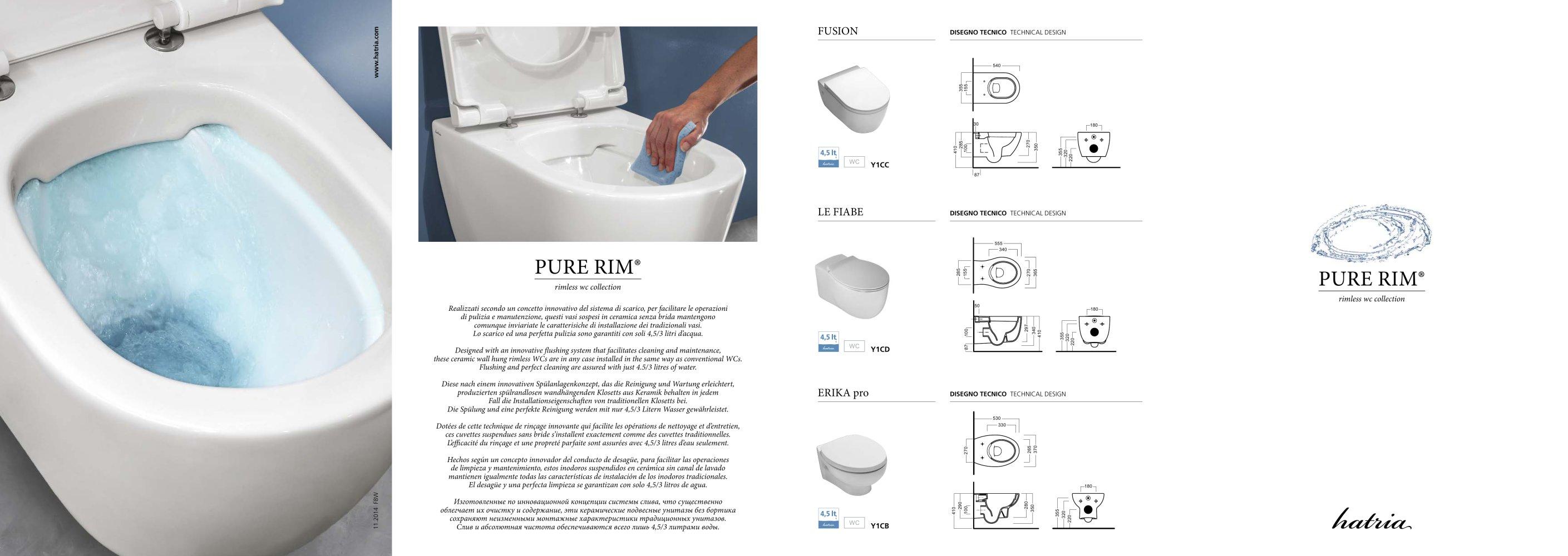 Catalogo Pure Rim - Hatria Srl - Pdf Catalogues | Documentation ... Toilette Und Bidet Design Hatria