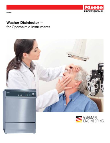 Medical Washer - Ophthalmic Instruments G 7899 - Miele Professional