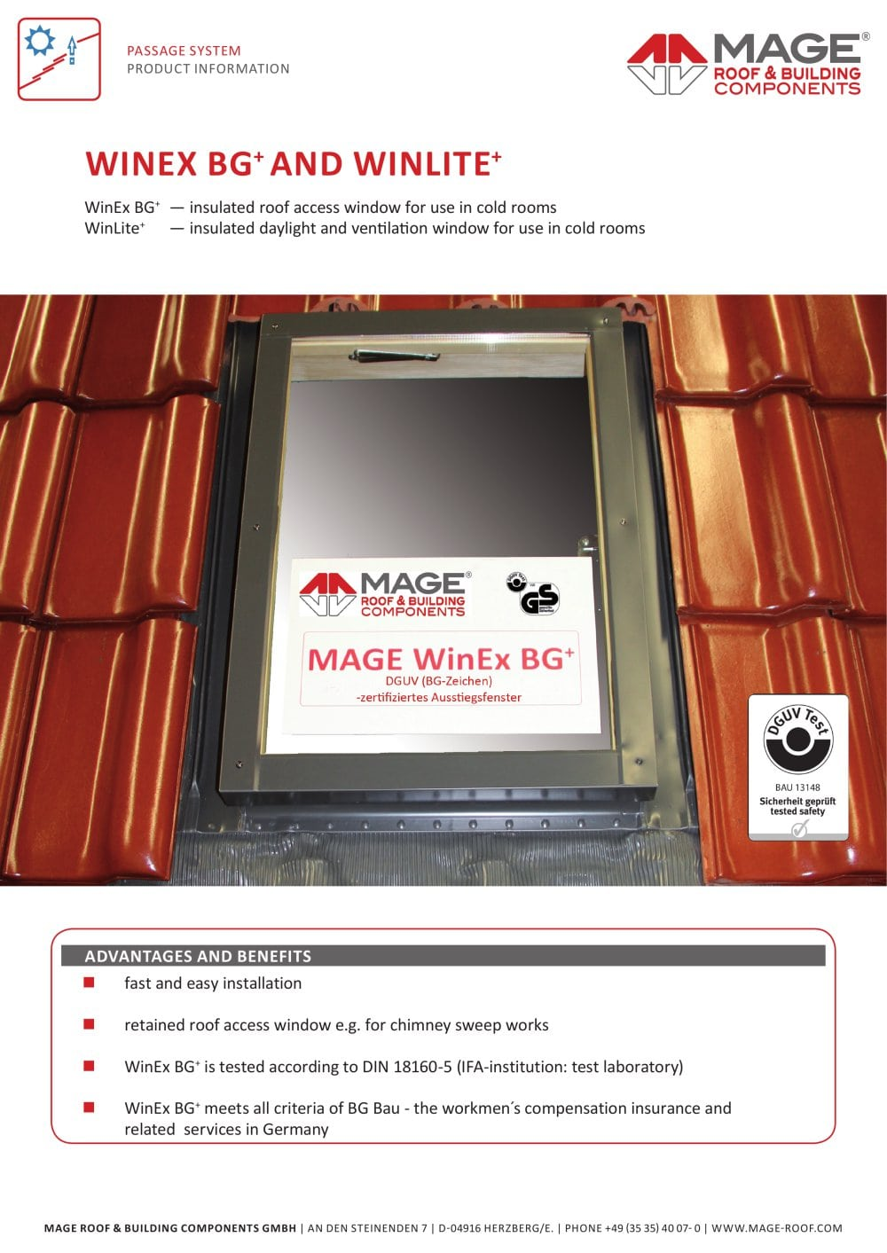 Mage Brochure | Winlite Mage Roof Building Components Pdf Catalogues