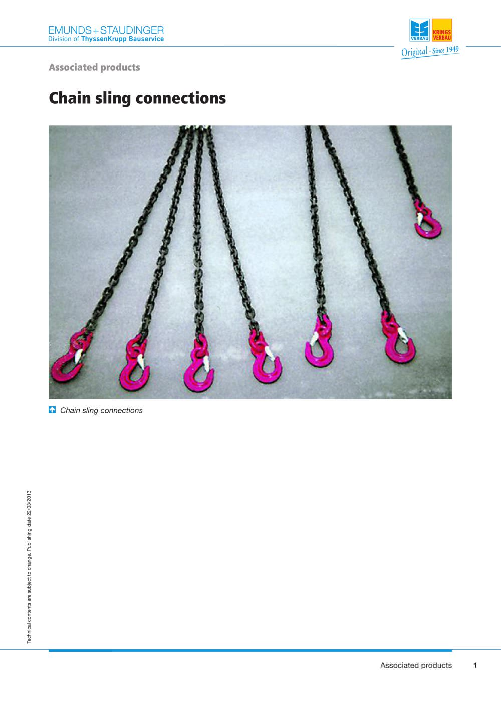 Chain sling connections - Tyssen Krupp Bauservice - PDF Catalogues ...
