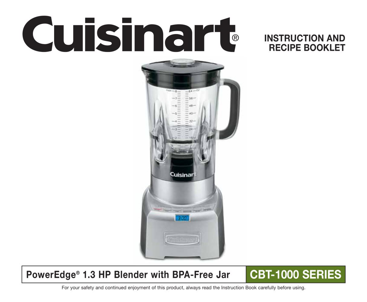 Poweredge 1000 watt blender cbt 1000 cuisinart france pdf poweredge 1000 watt blender cbt 1000 1 29 pages forumfinder Choice Image