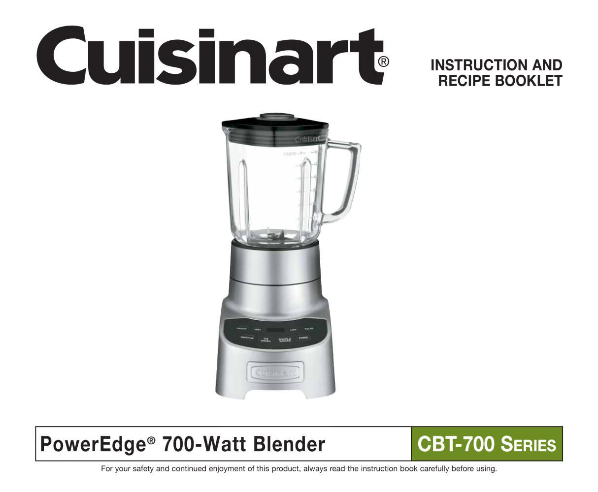Poweredge 700 blender cbt 700 cuisinart france pdf catalogues poweredge 700 blender cbt 700 1 25 pages forumfinder Choice Image
