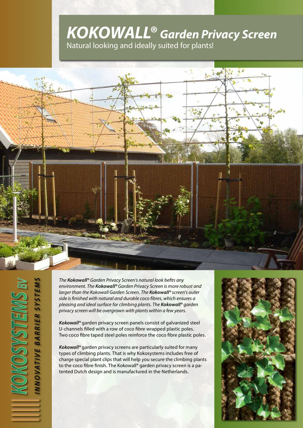 KOKOWALL XL Garden Screen - Kokosystems BV - PDF Catalogues ...