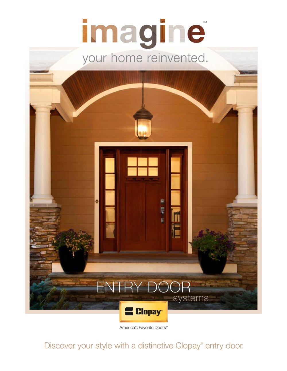 Entry Door Overview Brochure Clopay Door Pdf Catalogues
