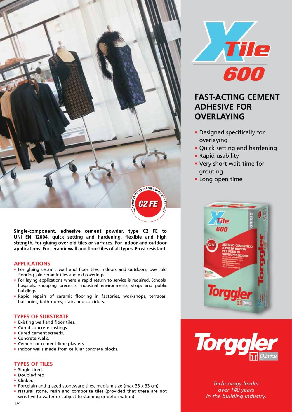 X Tile 600 Torggler Pdf Catalogues Documentation Brochures
