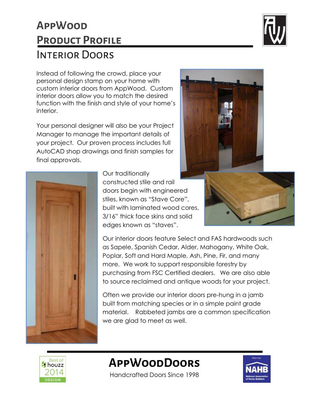 Interior Doors Appwood Pdf Catalogues Documentation Brochures
