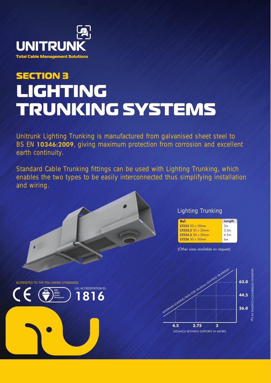 lighting trunking unitrunk pdf catalogues documentation