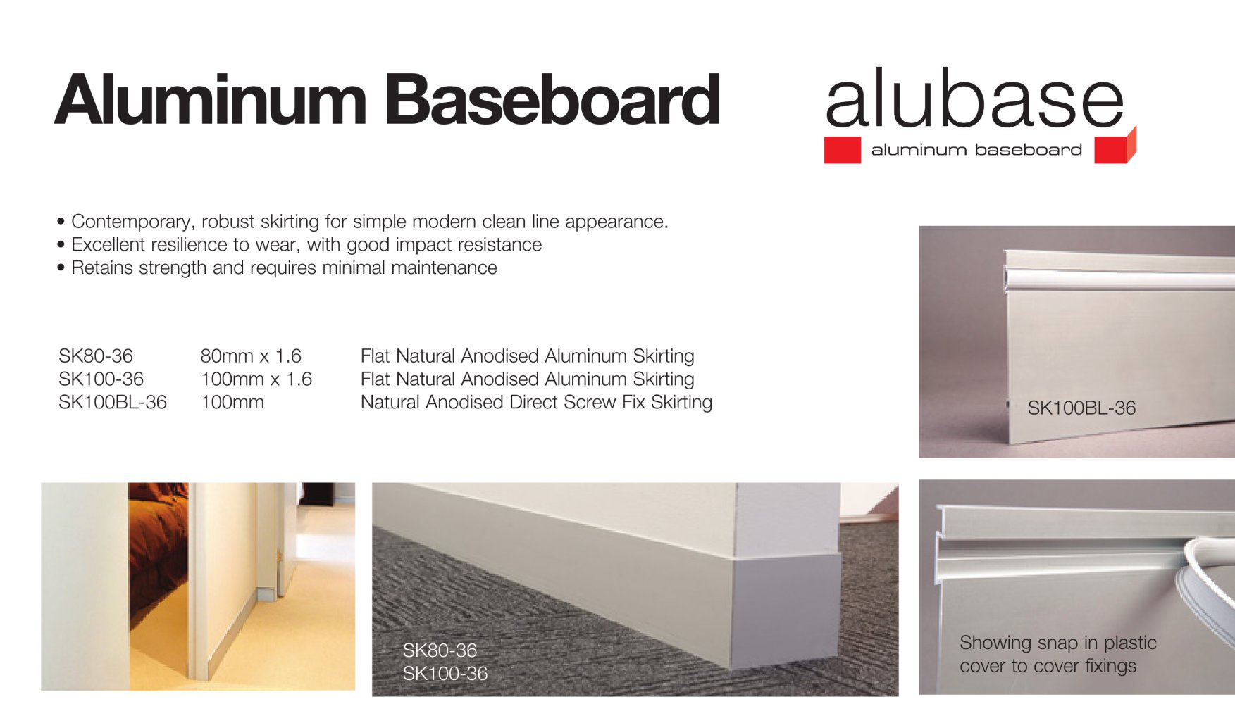 Aluminum baseboard 1 2 pages
