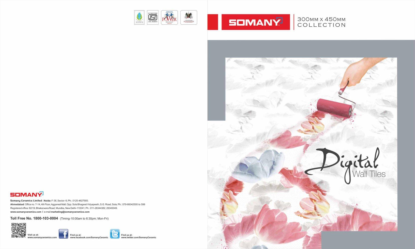 Digital Wall Tiles 300x450mm Somany Ceramics Ltd Pdf Catalogues