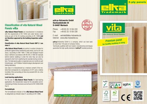 Natural wood panel VITA