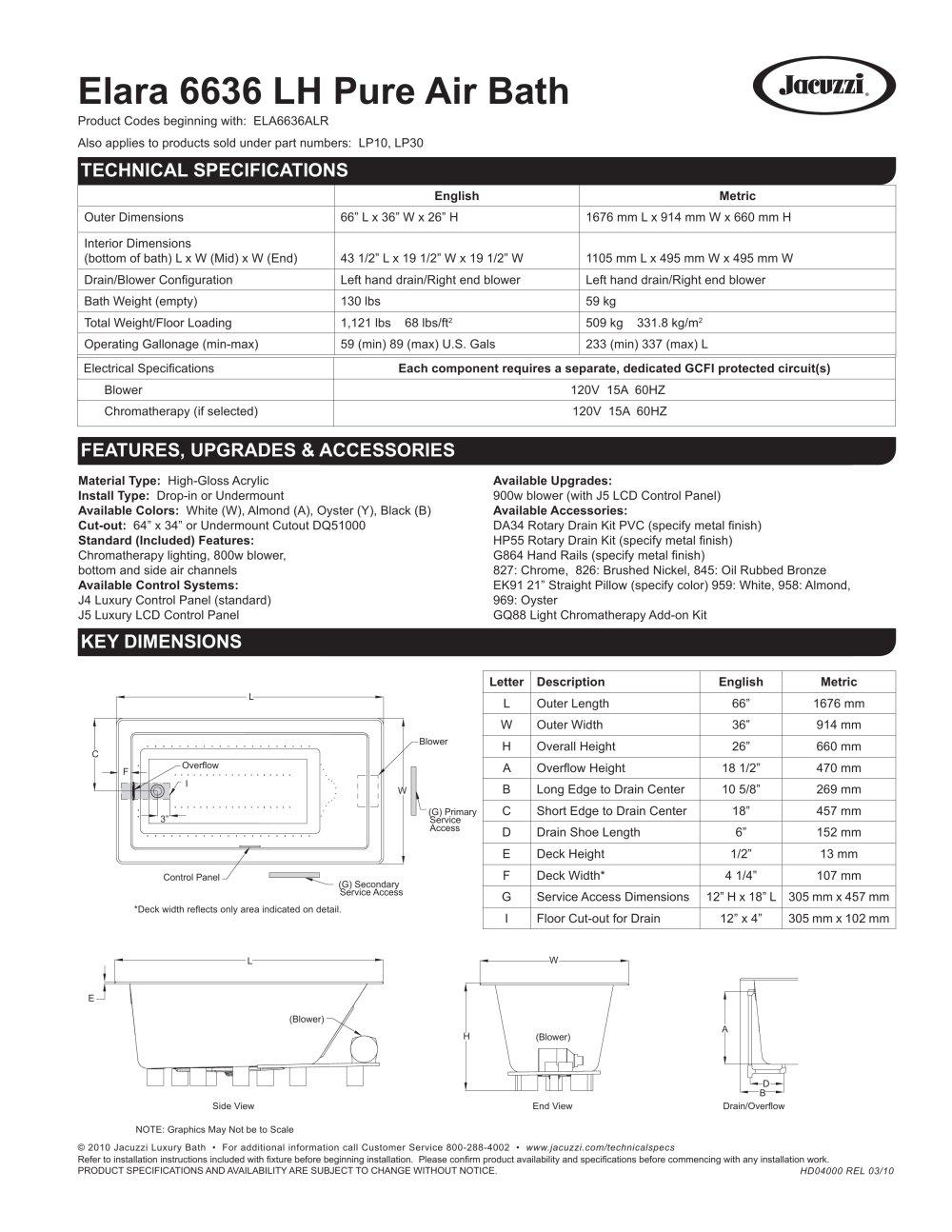 Elara 6636 LH Pure Air Bath - JACUZZI - PDF Catalogues ...