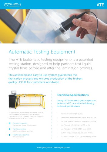 ATE - Automatic Testing Station