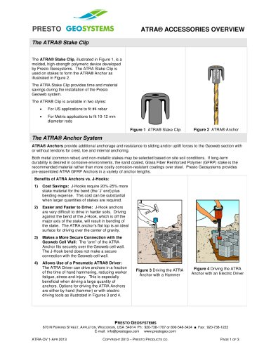 ATRA Accessories - Presto Geosystems - PDF Catalogs