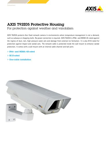 Axis T91E05 protective housing