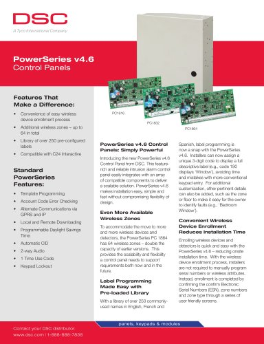 PowerSeries v4 6 Control Panels - Digital Security Controls