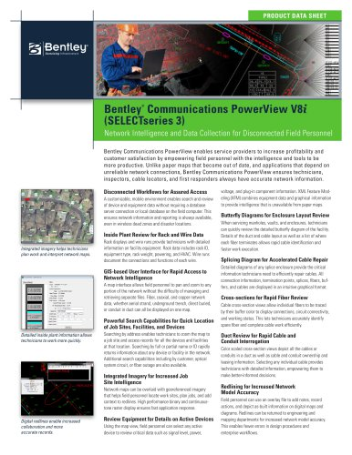 Bentley Communications PowerView V8i - BENTLEY SYSTEMS - PDF