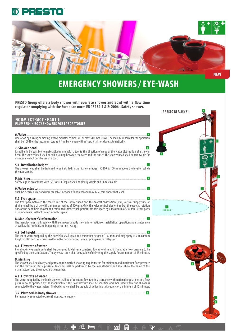 Emergency showers - Eye-wash - PRESTO - PDF Catalogues ...
