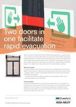 Crawford, High speed doors Emergency exit