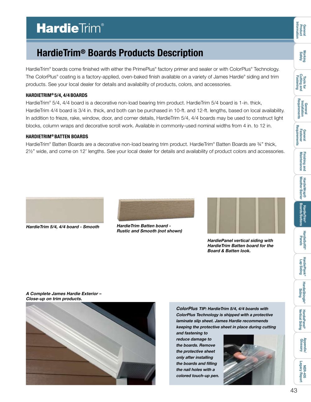 Products installation guide hardietrim pg 43 65 1 23 pages