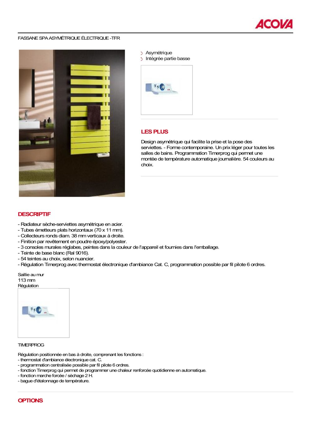FASSANE SPA - ACOVA - PDF Catalogues   Documentation   Brochures 3552b60b1c1f