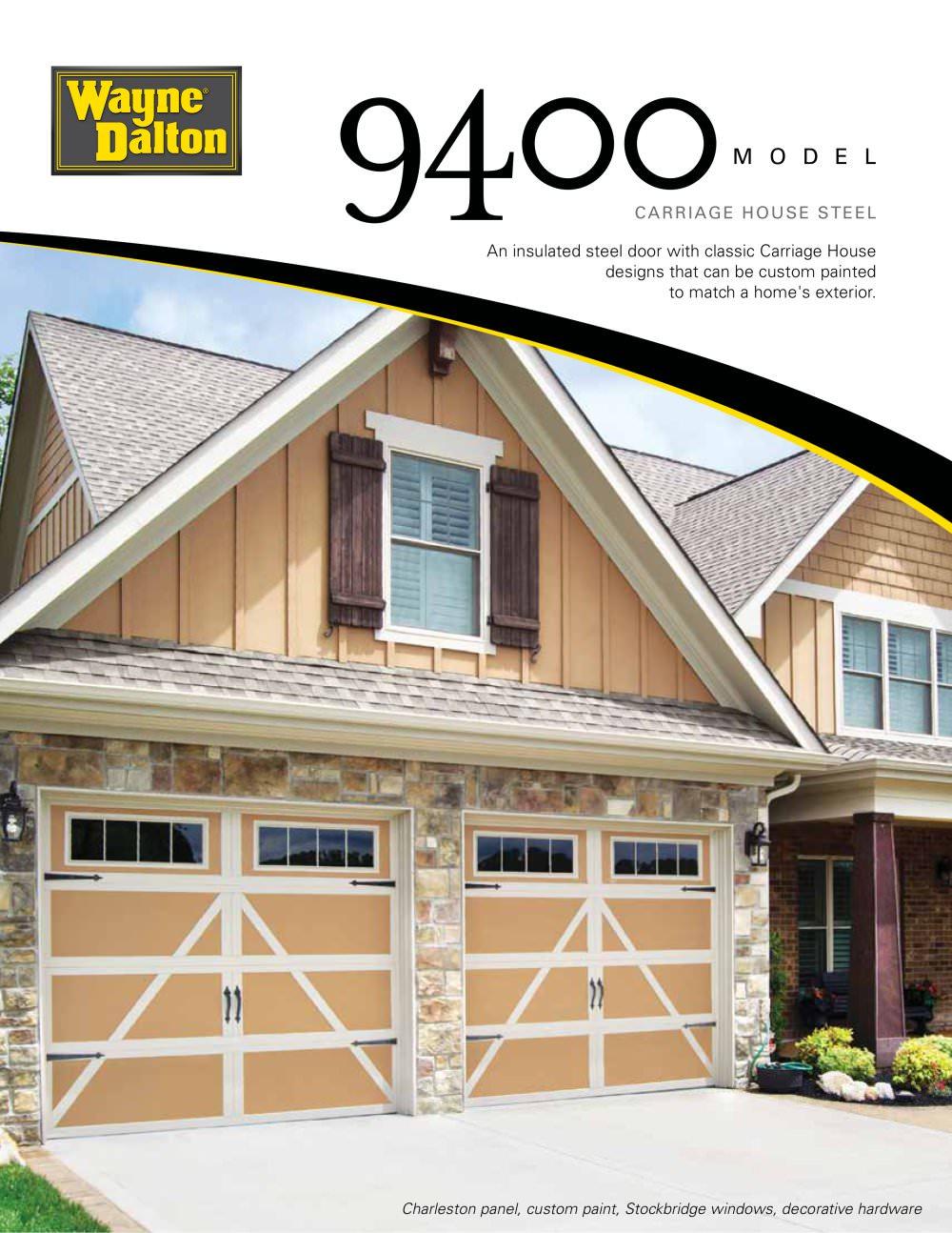 Wayne dalton 9700 garage doors - 9400 Model 1 4 Pages