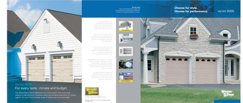 Brochure for Steel Garage Doors (Series 8000)