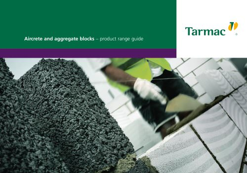 Aircrete and aggregate blocks product range guide