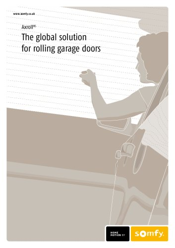 Axroll control for roller garage doors