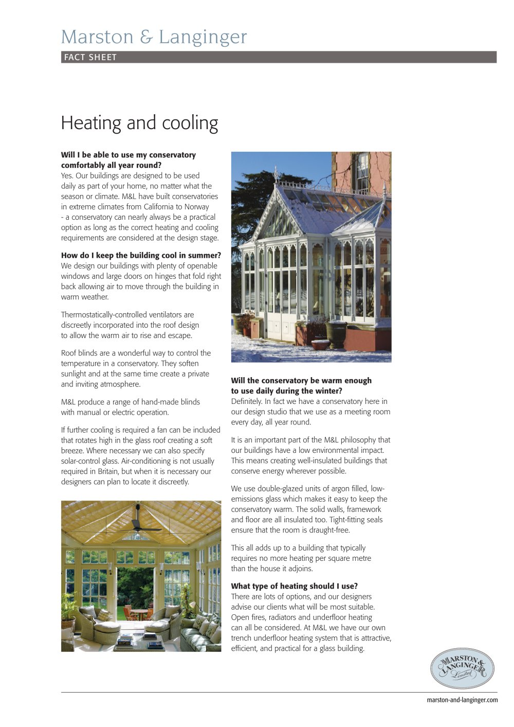 Heating & cooling a conservatory - Marston & Langinger - PDF ... on open air cooking, open air bathroom, open floor house designs, open-air bedroom designs, open air shed designs, open air furniture, bungaloo open-air designs, open air architecture, open air fireplaces, unique exotic home designs, open air dining room, open air porch designs, open air restaurants, open air beach house, holiday open house templetes designs, open floor plan home designs, open-air bungalow designs, open-air chicken co-op designs,