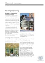 Heating & cooling a conservatory