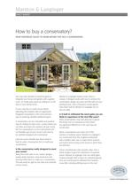 How to buy a conservatory
