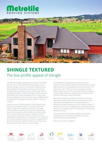Shingle textured