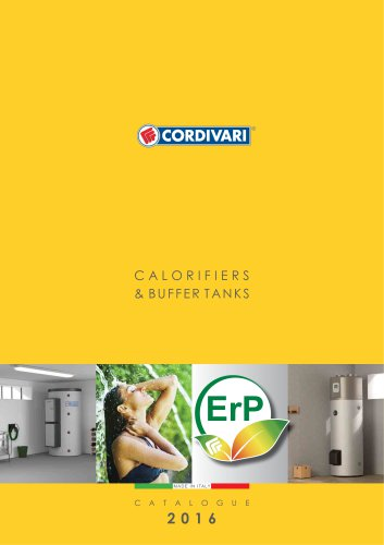 CALORIFIERS & BUFFER TANKS-CATALOGUE 2016 - CORDIVARI - PDF Catalogs