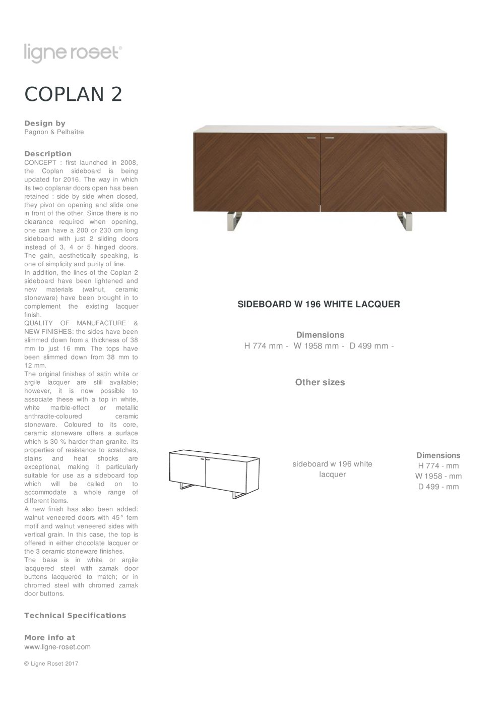 Coplan 2 Ligne Roset Pdf Catalogues Documentation Brochures # Catalogue Bahut