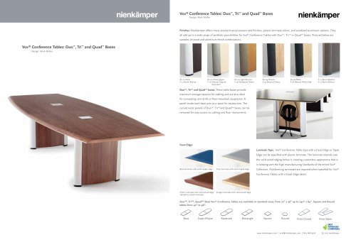 Vox Conference Tables Nienkamper PDF Catalogues Documentation - Vox conference table