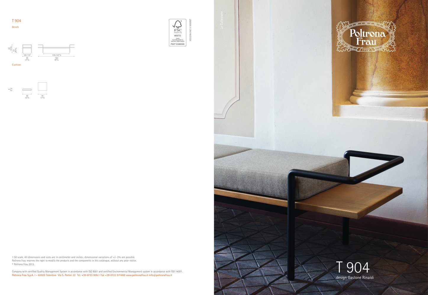 T 904 - POLTRONA FRAU - PDF Catalogues | Documentation | Brochures
