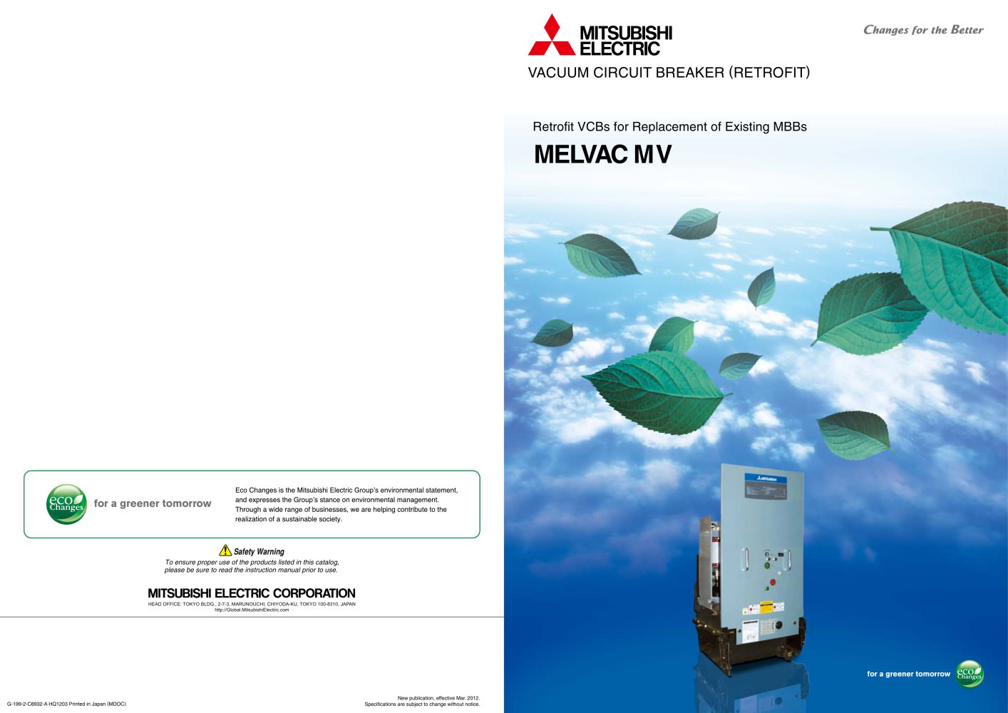 Retrofit Vacuum Circuit Breakers For Replacement Of Existing Mbb Portable Breaker Type Mv 1 8 Pages
