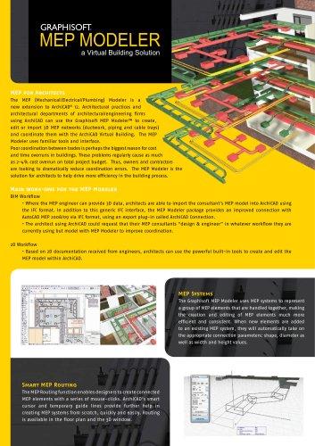 MEP Modeller - Graphisoft - PDF Catalogs   Documentation   Brochures