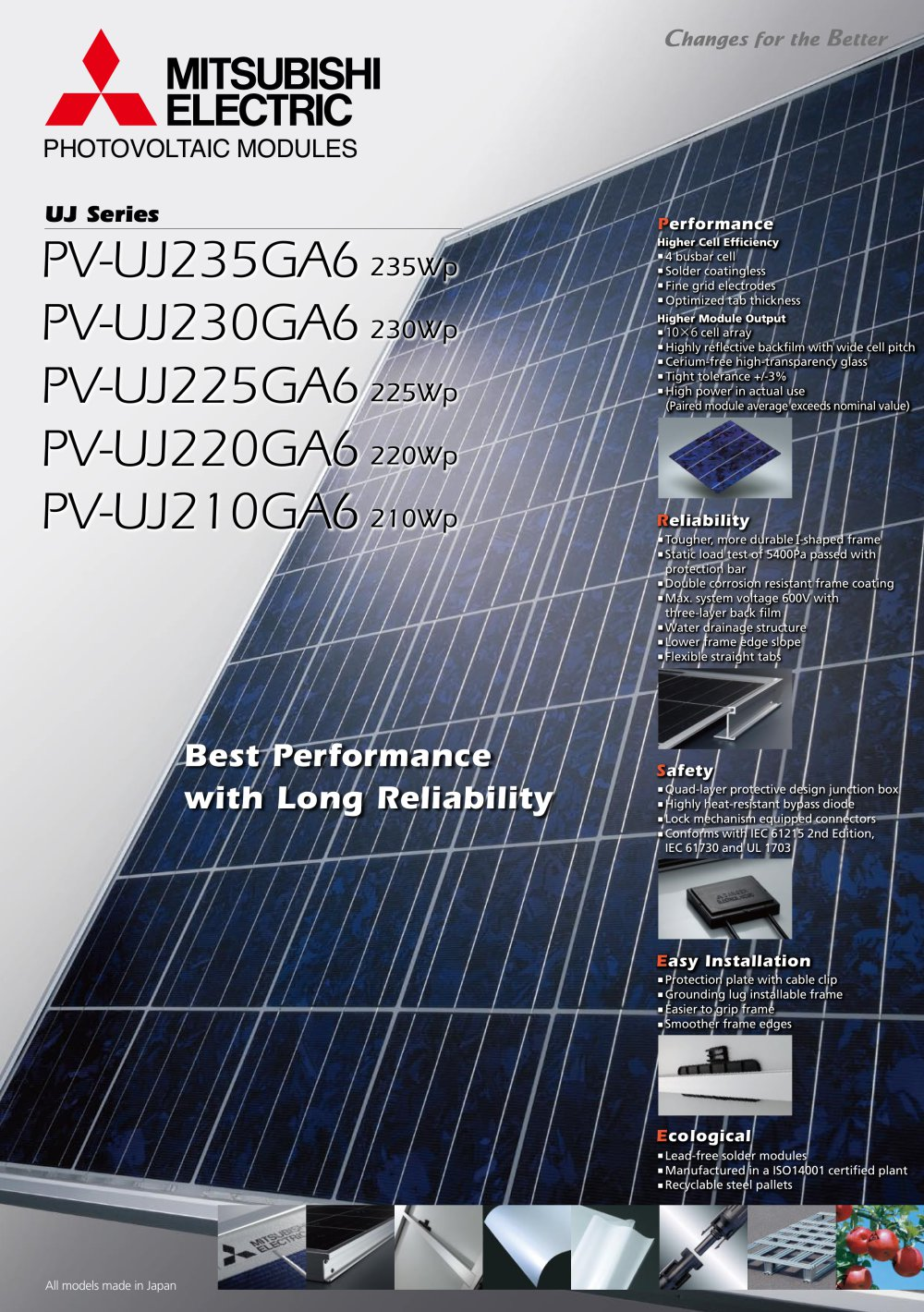 uj series - mitsubishi electric solar power - pdf catalogs