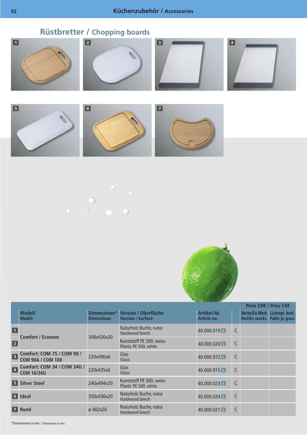 Kitchen accessories - Suter Inox AG - PDF Catalogues