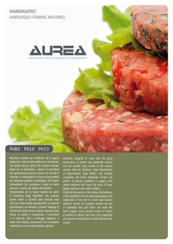 Hamburger forming machines PH AUREA